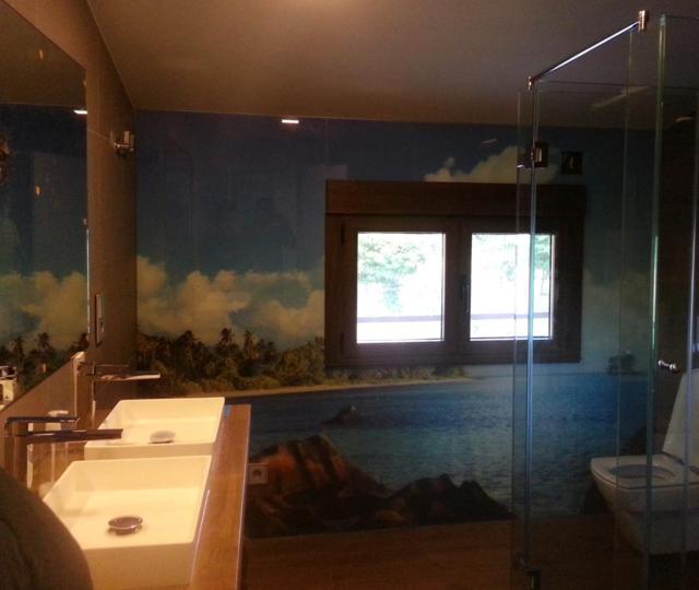 Baño con impresión digital